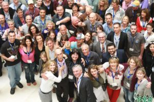 large group of people at cluster headache conference
